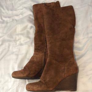 Cole Haan brown heeled suede boots